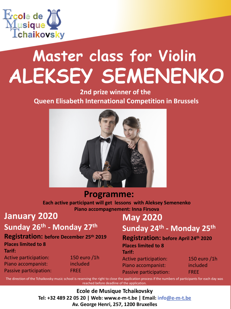 ALEKSEY SEMENENKO - Master class for Violin - FINAL